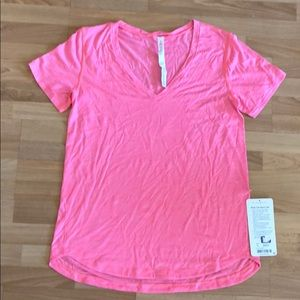 New with tags What The Sport Tee, Sz 8, Lululemon